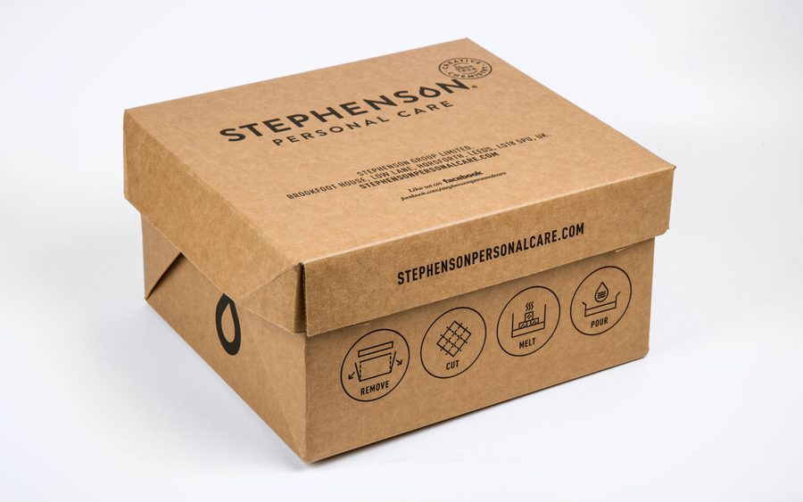Logo, brand identity and packaging designed by Robot Food for UK soap base specialist Stephenson Personal Care