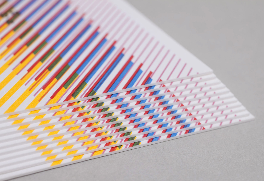 Business card with pattern detail designed by Build for London based production and digital content company 3angrymen