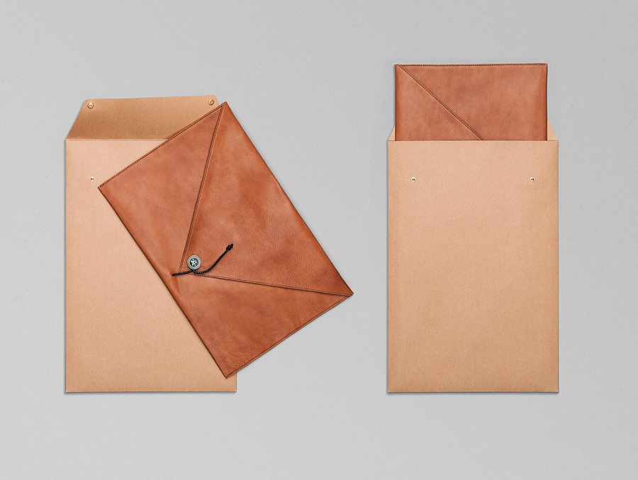 Logo and leather accessories designed by Bleed for the redevelopment of Oslo waterside district Aker Brygge