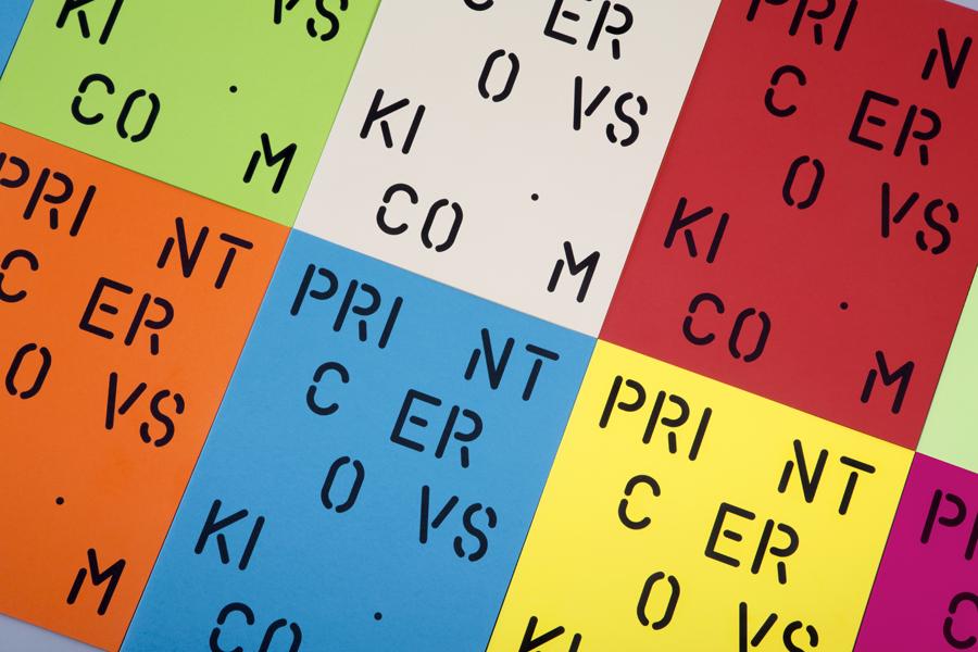 Coloured card folder for print production studio Cerovski designed by Bunch