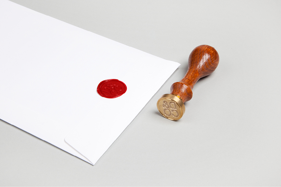 Logo as a wax seal by Hunt Studio for business advisory and management consultancy Daum & Co