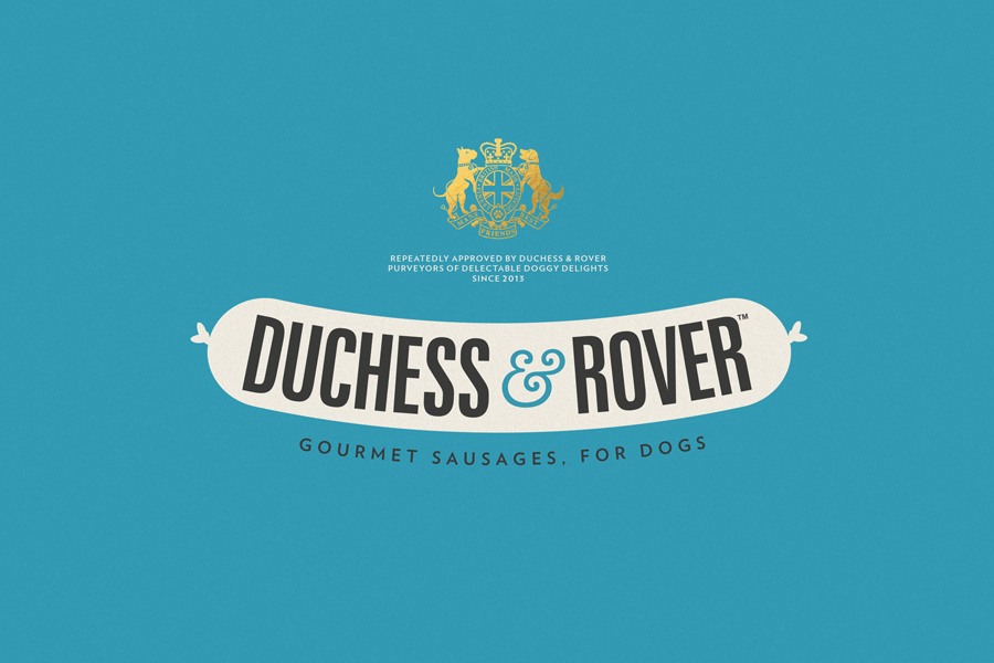 Logo designed by Robot Food for premium sausage range for dogs Duchess & Rover