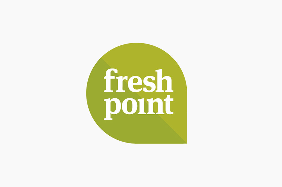 Logo created by Designers Anonymous for Russian fast food cafe Fresh Point