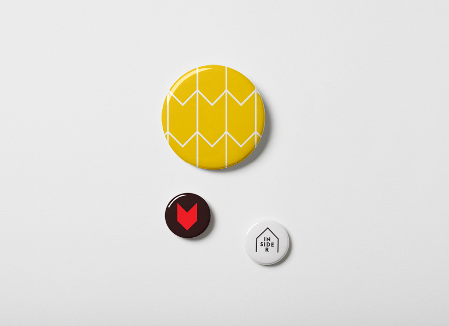 Logo, symbol and badges designed by Naughtyfish for Sydney Opera House's membership program Insiders