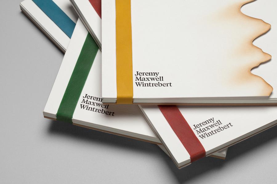Portfolio designed by Hey for glassware maker Jeremy Maxwell Wintrebert
