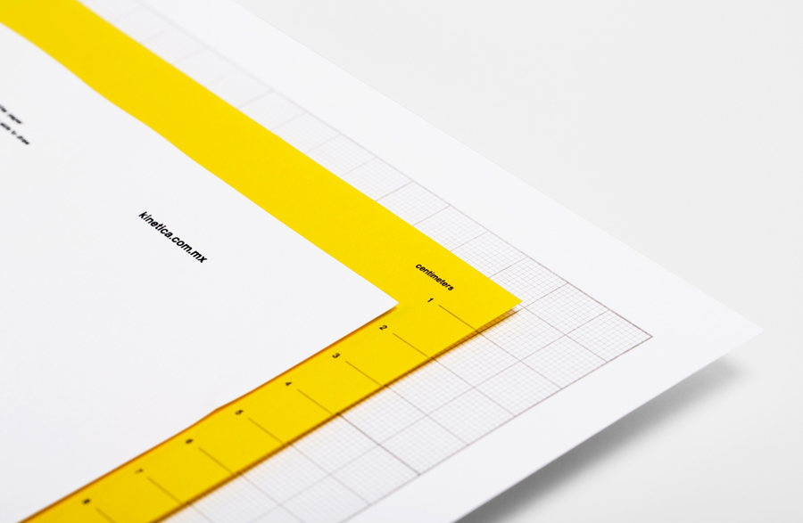 Logotype and print designed by Face for industrial design studio Kinetica
