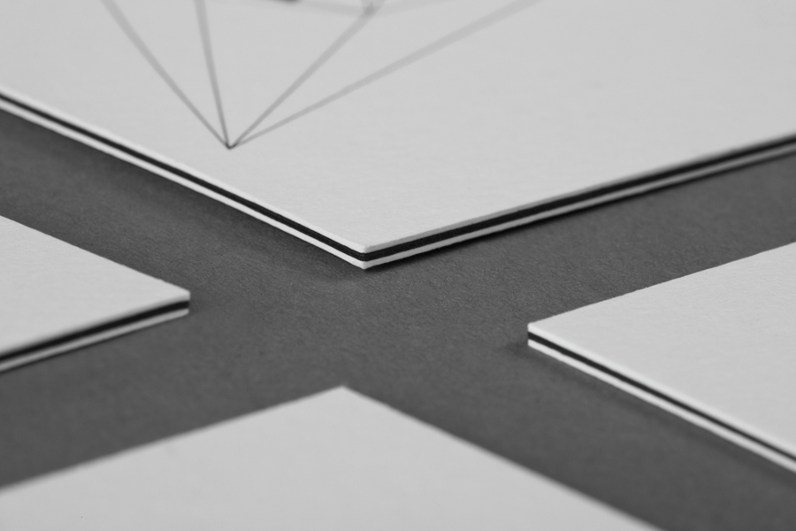 Triplex business card for structural engineering firm Nosive Strukture designed by Bunch