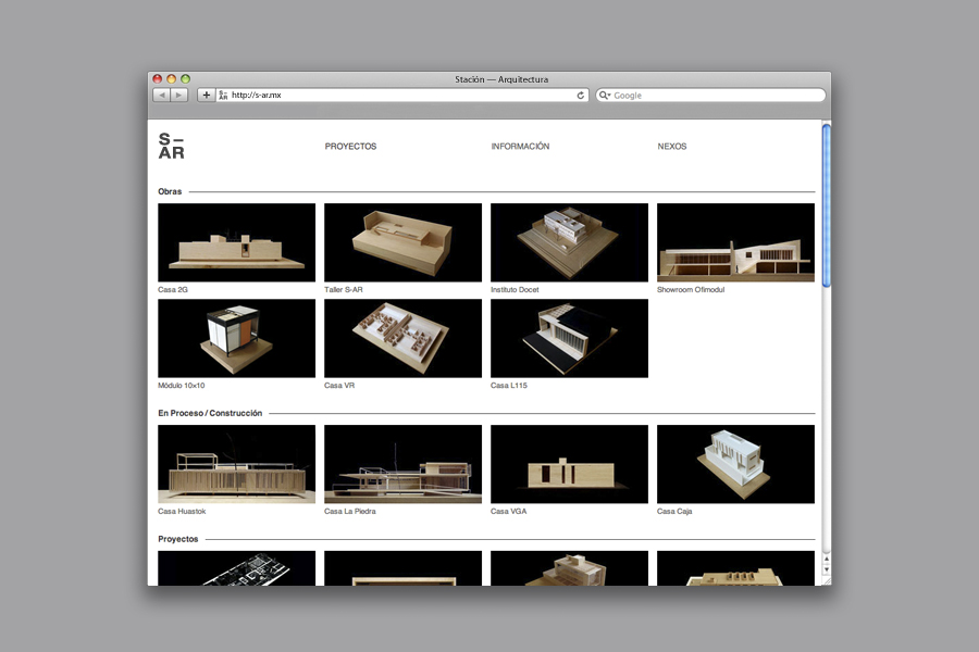Website design by Savvy for architecture and urban design firm Stación-ARquitectura