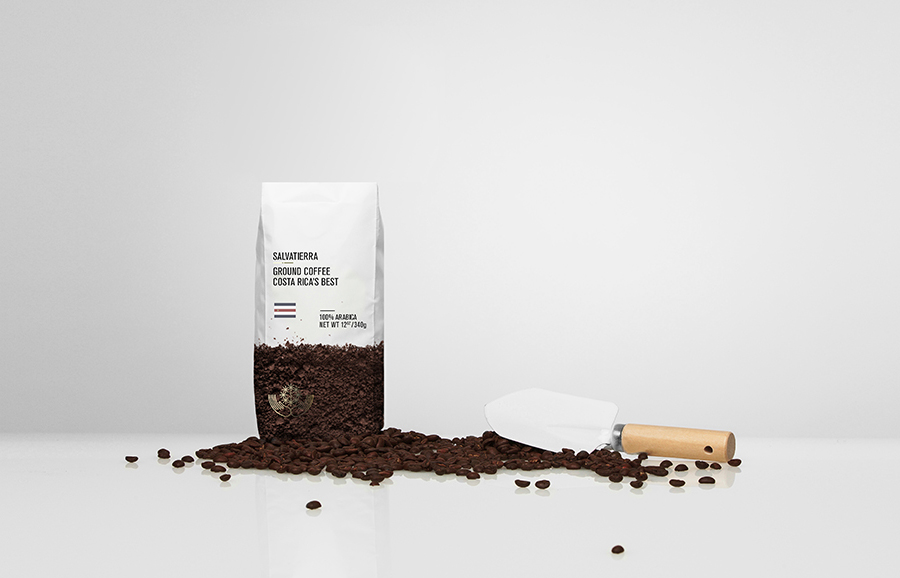 Coffee packaging by Anagrama for Latin American premium goods exporter Salvatierra