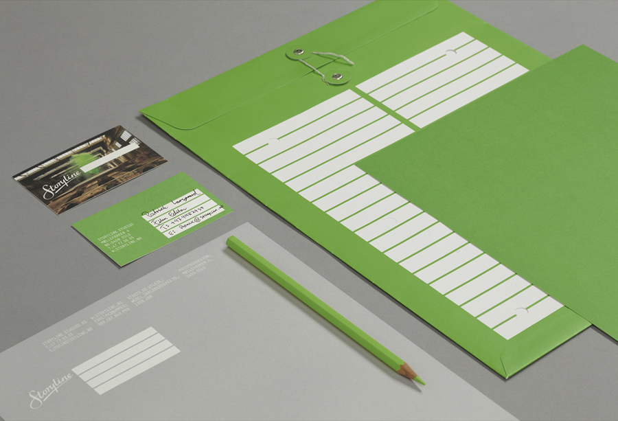 Logo and collateral design by Work In Progress for Storyline Studios