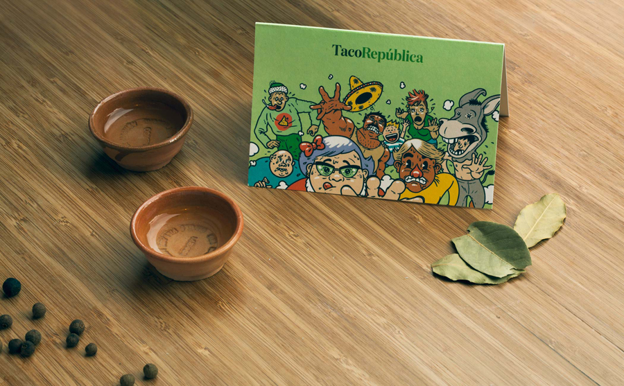 Print feat. illustration by Uglylogo for Taco República designed by Bielke+Yang