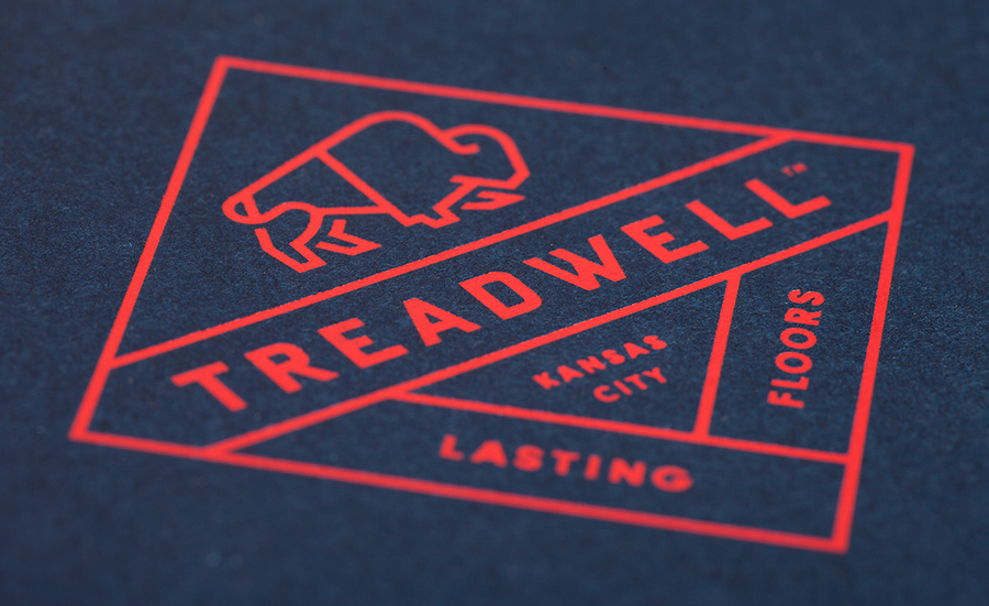 Logo designed by Perky Bros for floor specialist Treadwell