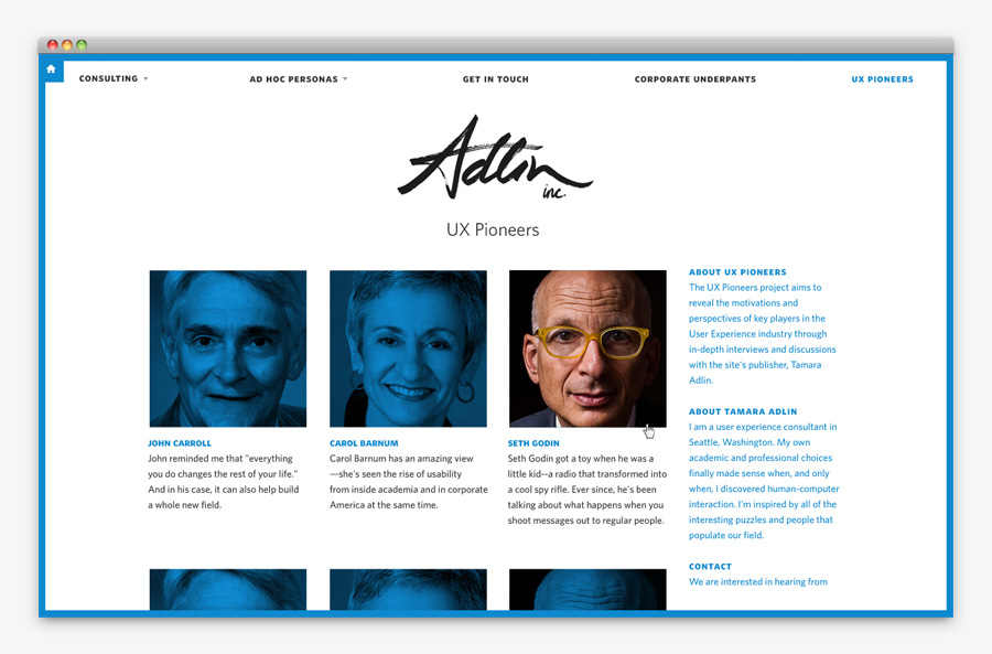 Logo and website designed by Apartment One for customer-centric business consulting business Adlin Inc