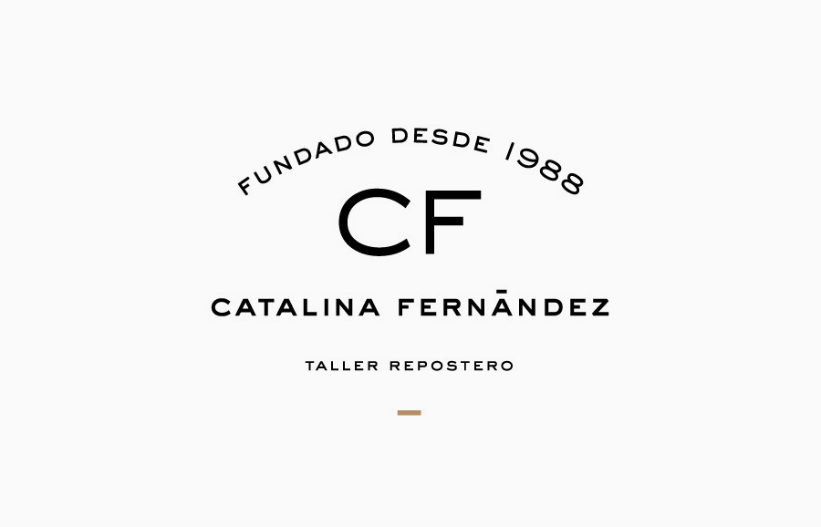 Logotype designed by Anagrama for San Pedro pastry shop Catalina Fernandez