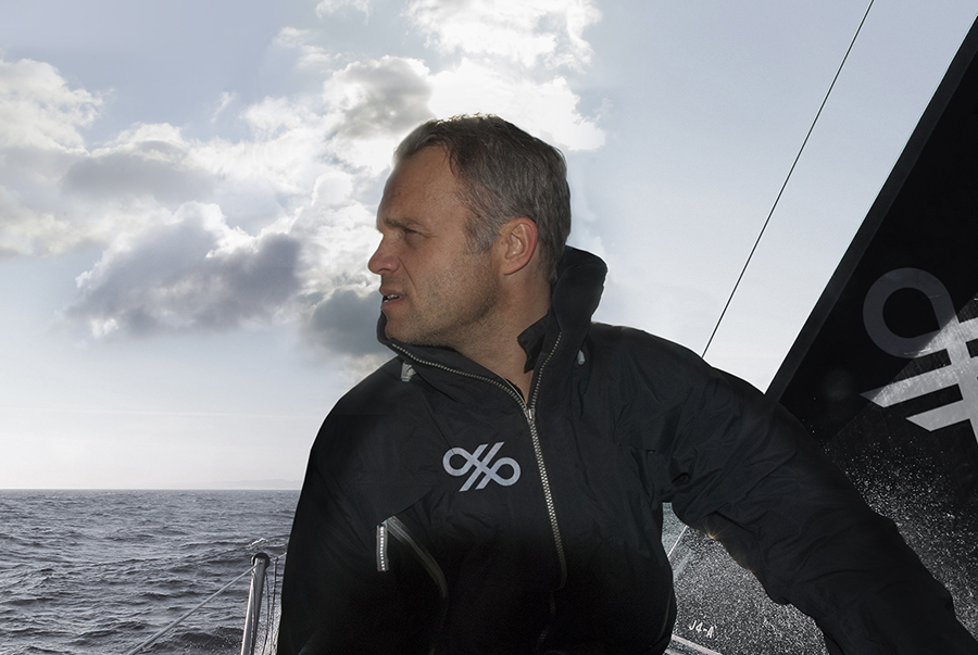 Crosskey logo across boat sails and sailing garments designed by Kurppa Hosk