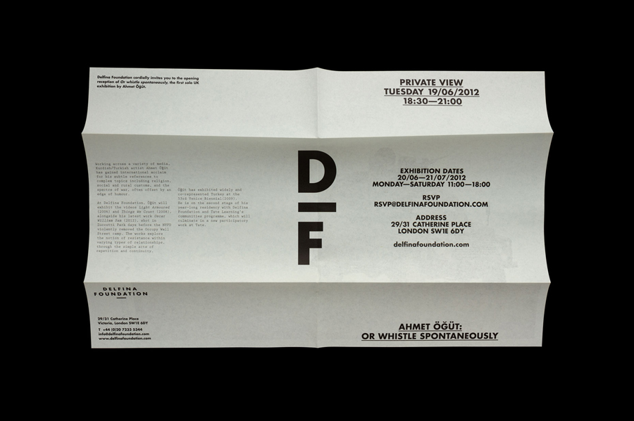 Logo and print created by Spin for creative exchange and artistic development network Delfina Foundation
