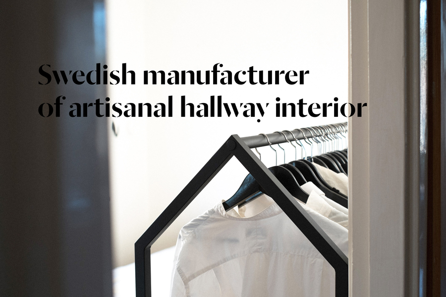 Typography and image composed by Bedow for Essem Design, a Swedish manufacturer of artisanal hallway interiors.