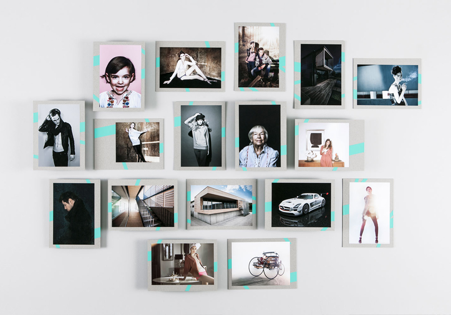 Photography folder with fluorescent sticker detail designed by LSDK for Frederik Laux Photography