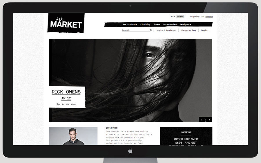 Website design by Planet Creative for Les Market
