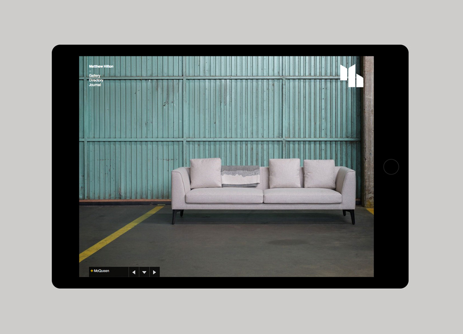 Website by Spin for furniture designer Matthew Hilton