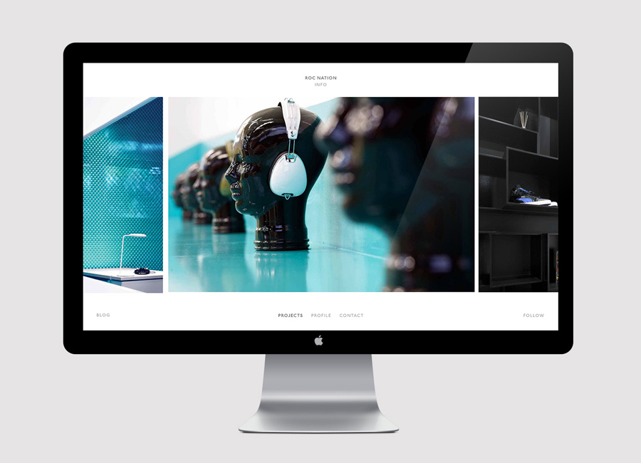Website for interior design firm Penson Group created by She Was Only