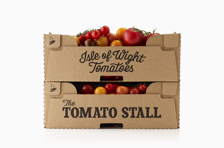 Packaging by Designers Anonymous for speciality tomato grower and artisan tomato product producer The Tomato Stall