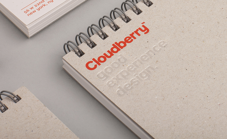 Logotype and notepad designed by Perky Bros for Cloudberry