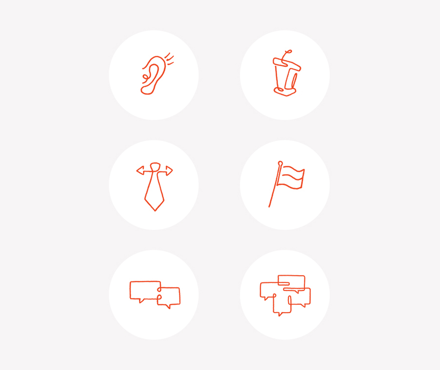 Icons designed by Perky Bros for leadership consultant Mark Cappellino