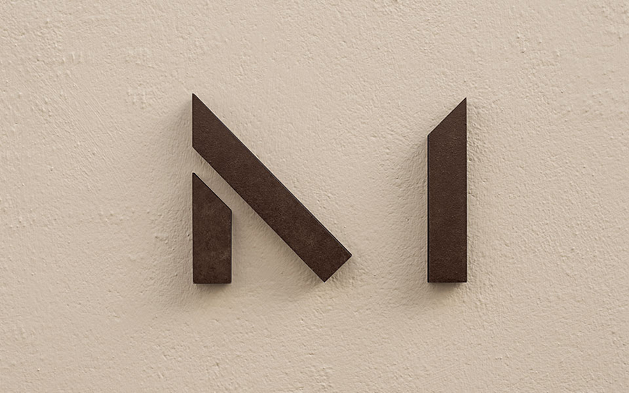 Logo designed by Heydays for architecture firm Mellby