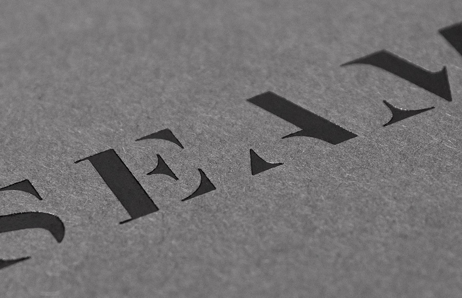 Logo and business card with black foil detail designed by For Brands for fashion brand Seam