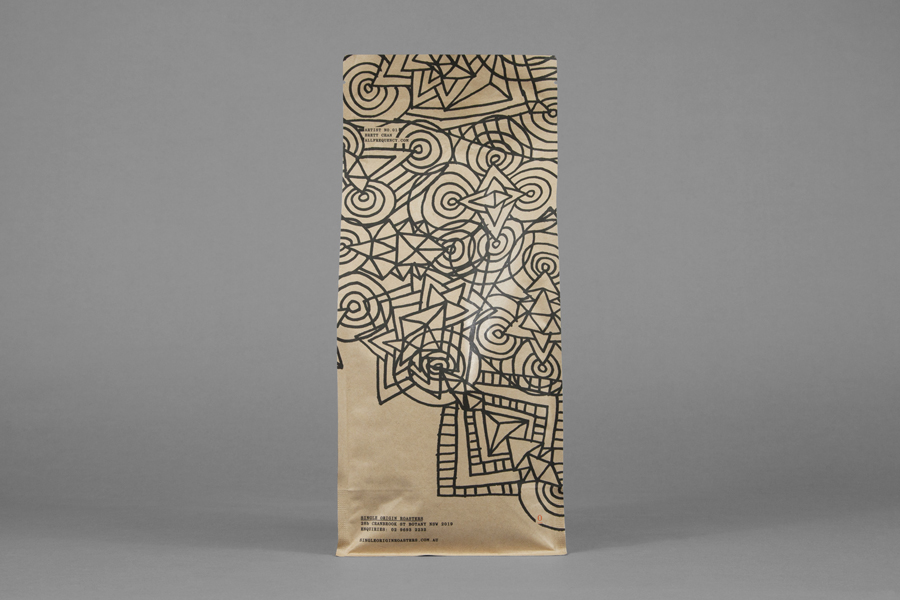Coffee packaging with hand drawn illustrative detail for Single Origin Roasters designed by Maud