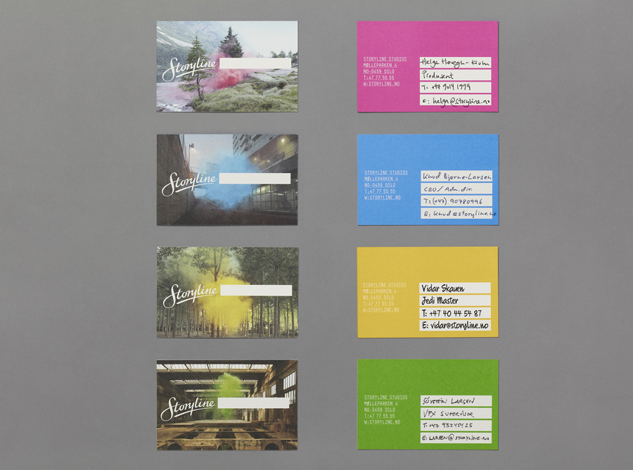 Logo and business card design by Work In Progress for Storyline Studios