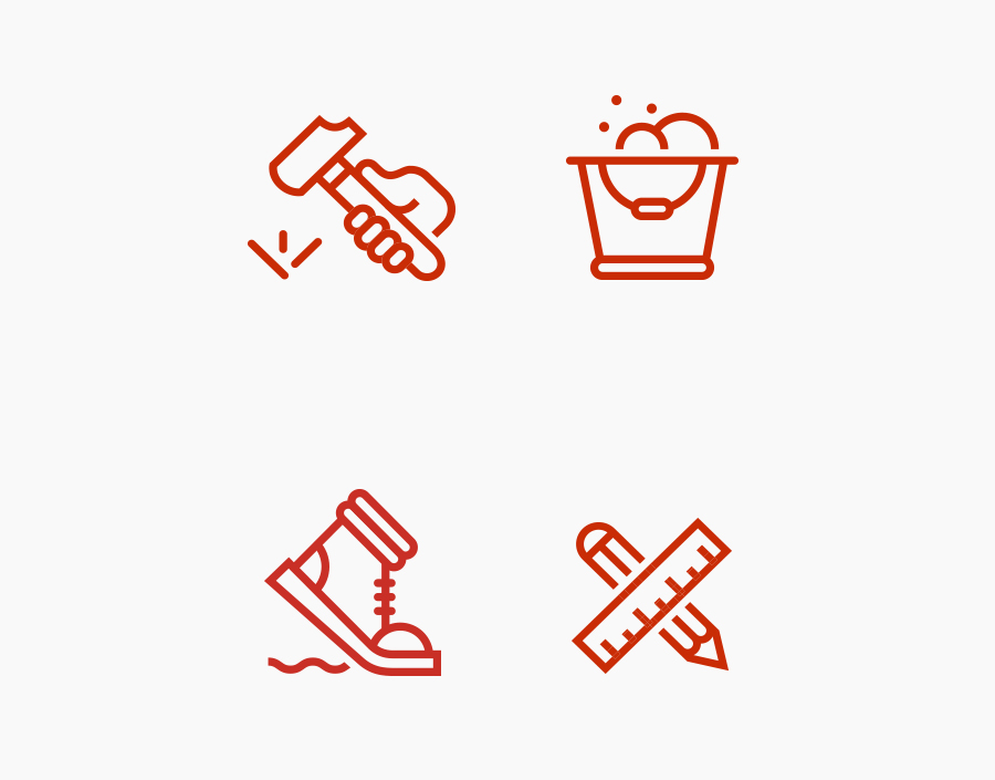 Icons designed by Perky Bros for floor specialist Treadwell
