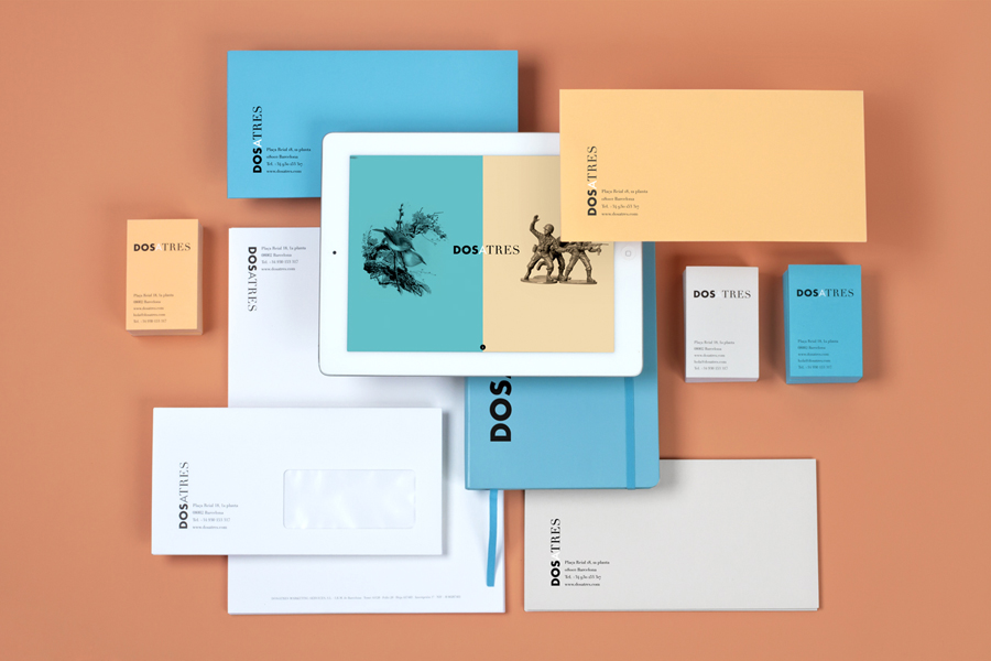 Logotype and stationery set designed by Comite for Dosatres