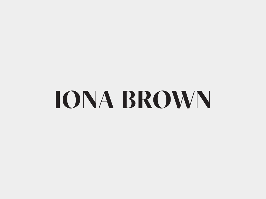 Logotype for contemporary jewellery designer Iona Brown designed by Sam Flaherty.