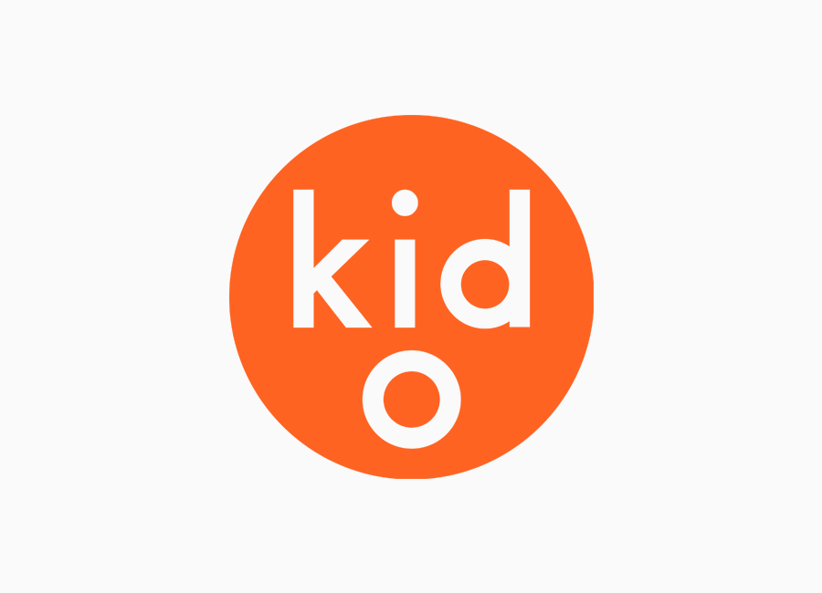 Logotype for modern toy business Kid O