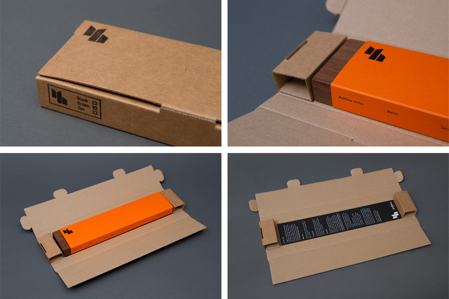 Watch packaging design by Spin for furniture designer Matthew Hilton