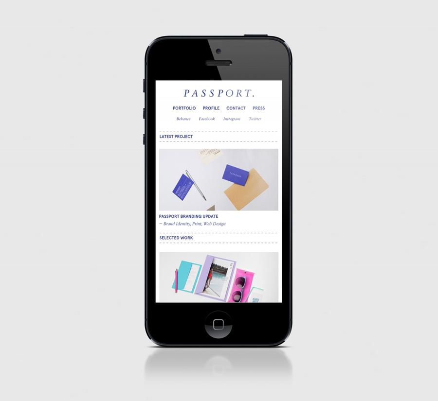 Responsive website for Leeds based design studio Passport