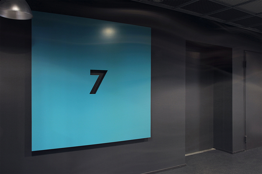 Interior signage designed by Werklig for Helsinki office space Pikseli