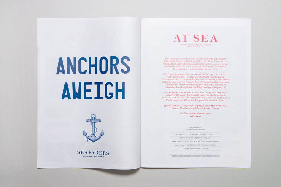 Print created by Inhouse for Auckland's The Seafaring Building