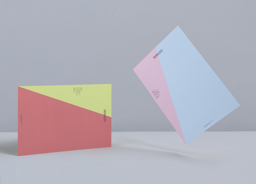 Logo and headed paper with full colour detail designed by Bunch for digital design studio Sebazzo