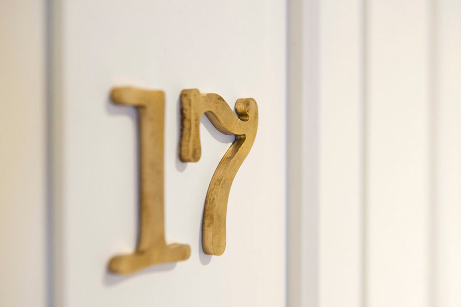 Interior signage for Tel Aviv hotel Townhouse designed by Koniak