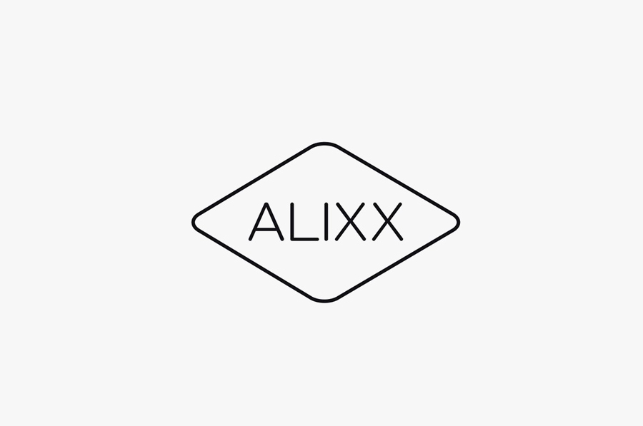 Logo designed by Coast for handmade scented candles and soap brand Alixx