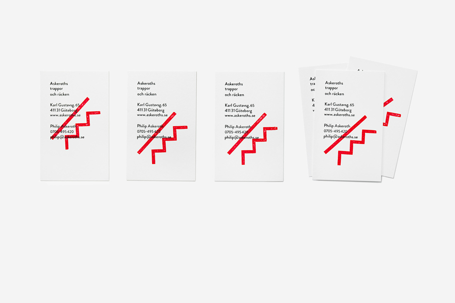 Logo and business card with hand stamp detail designed by Bedow for Swedish specialist staircase manufacturer Askeroths Trappor Och Räcken Bedow_on_BP&O