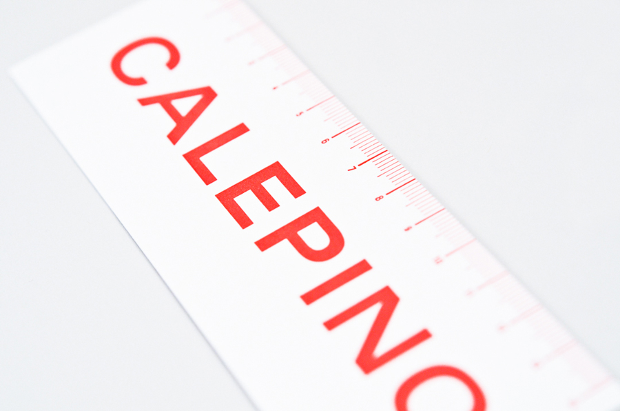 Stationery with a single red ink detail designed by Studio Birdsall for French notebook brand and manufacturer Calepino