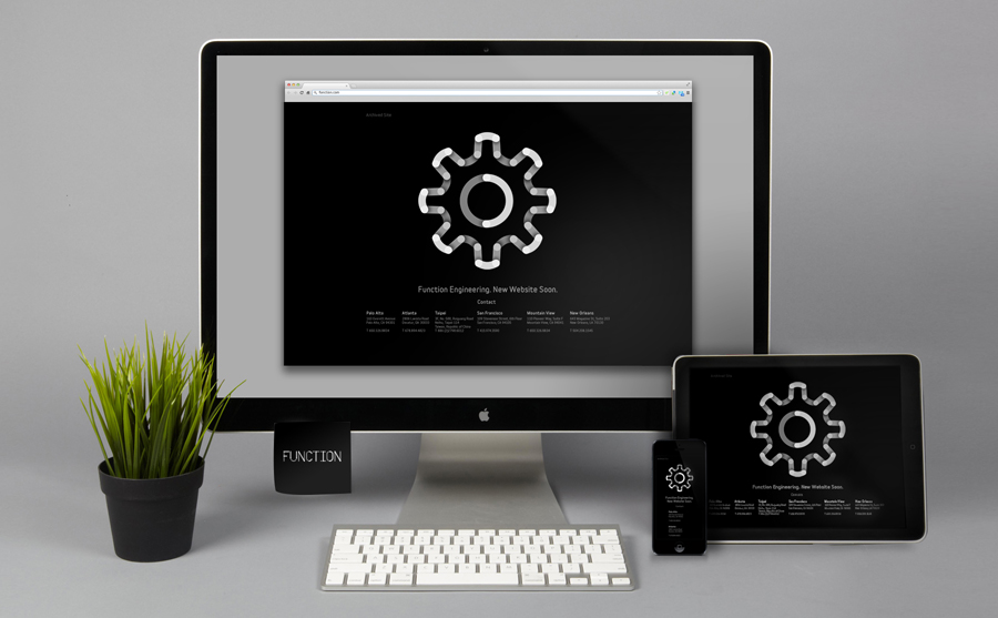 Logo and website for Function Engineering designed by Sagmeister & Walsh