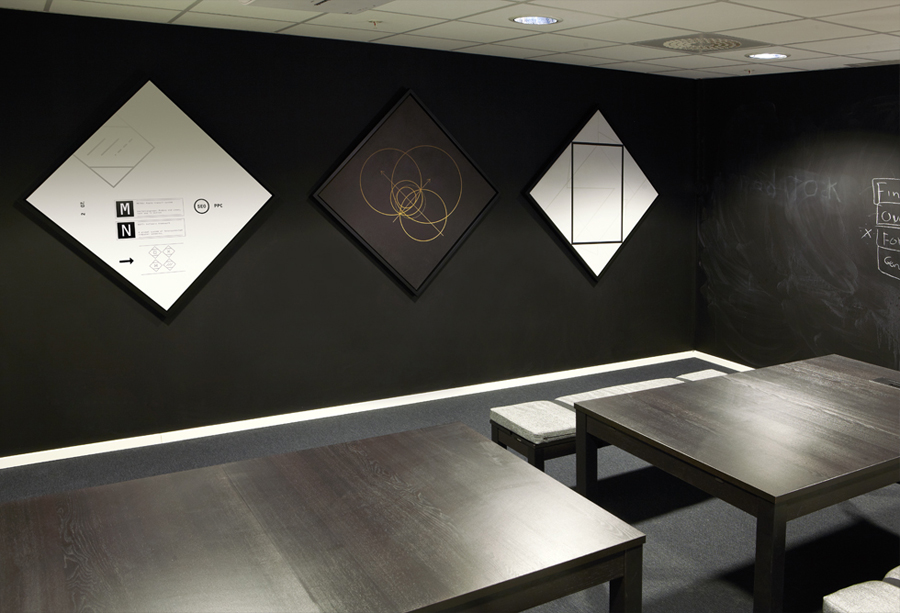 Interior graphics designed by Work In Progress for Metronet