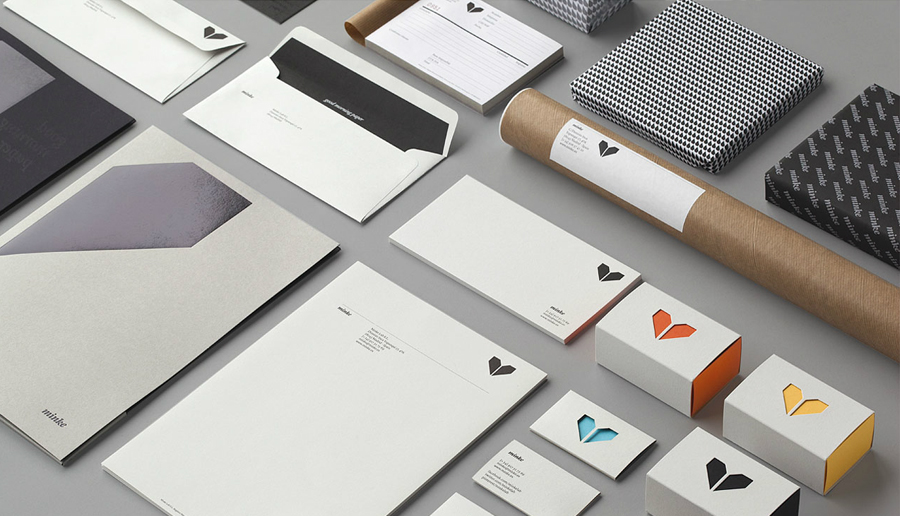 Logo and design for print by Atipo for Spanish production studio Minke