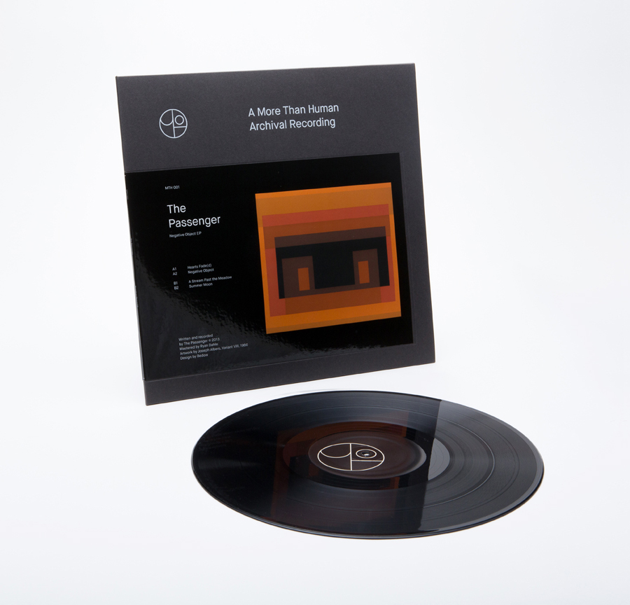 Logo and record label design featuring artwork from Joseph Albers for Canadian record label More Than Human