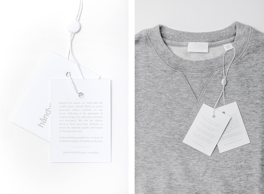 Logotype and tags designed by Savvy for fashion brand Handvaerk